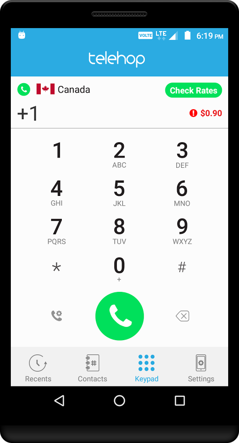 Telehop app settings