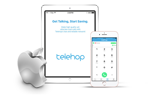 Download the Telehop app your Apple devices